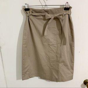 Jacob Tan pencil highrise skirt with bow detail